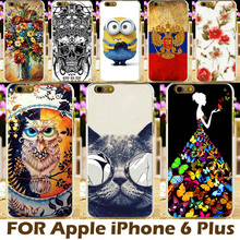 Hard Plastic Case For iPhone 6 Plus Cases Covers Apple iPhone6 Plus 5.5 Inch Phone Cover Protective Sleeve DIY Painting Design