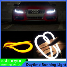 2 x 45cm DIY LED Car Flexible Soft Strip Waterproof Auto Daytime Running Light Turn Signal Lamp Angel Eye DRL Car Styling