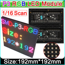 2017new led panel, P3 Indoor SMD RGB LED display module +Protective cover,192mm x 192mm(China)