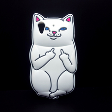 New Ripndipp 3D Cartoon rock cute white corna cat soft silicon cover case For HTC Desire 626 626G Silicone Cell Phone Cases