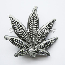 Retail Distribute Original Leaf  Belt Buckle BUCKLE-MU109AS Free Shipping