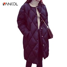 Loose Korean Style Cocoon Long Jackets Plus Size Wadded Down Parkas for Women Long Padded Jackets Warm Coats Winter Coat Womens