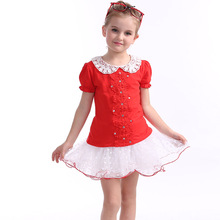 High Quality Girl Dresses Princess Children Clothing Kid's Dress Baby Girls Clothes Summer Girls Print Dress Princess Baby DS3