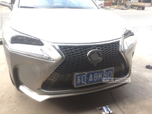 Fashion Hybrid style Racing Grills For LEXUS NX NX200T NX300H 2015-2017 ABS bright black Front Grille