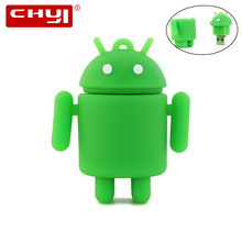 CHYI Real Capacity Pen Drive Cartoon Cute Android Robot Memory Stick 4GB 8GB 16GB 32GB USB Flash Drive Pendrive Personalizado(China)