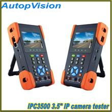"IPC-3500 3.5""IP CCTV tester monitor analog cameras and IP cameras video display PTZ control cable scan POE 12V output"