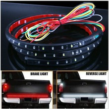 49 Inch 1.2M 2.5W stop Signal Flexible Truck Car LED Strip Light Lamp 72SMD Waterproof 5-Function LED Strip Tailgate led Bar
