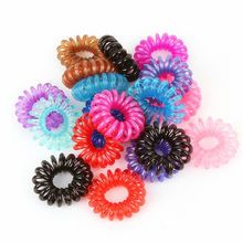 10 PCS Lady Girl Black Elastic Bands Scrunchy Telephone Wire Elastic Hair band Ties Plastic Rope Band Ponytail Hair Accessories
