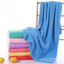Solid Bath Towel Beach Towel For Adults Drying Soft Ultra Thin Absorbent Microfiber Bath Towel Home Textile Hot Sale