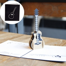 3D Pop Up Music Guitar Greeting Card Christmas Valentine Birthday Invitation H06