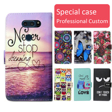 Buy Fashion cartoon printed flip wallet leather case LG V30 V30+ Card Slot phone bag book case,free gift for $3.99 in AliExpress store