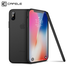 Cafele Phone Case for iPhone X Matte TPU for iPhone X Case Ultra-thin 0.6mm Comfortable Soft Case Cover for iPhone 10(China)