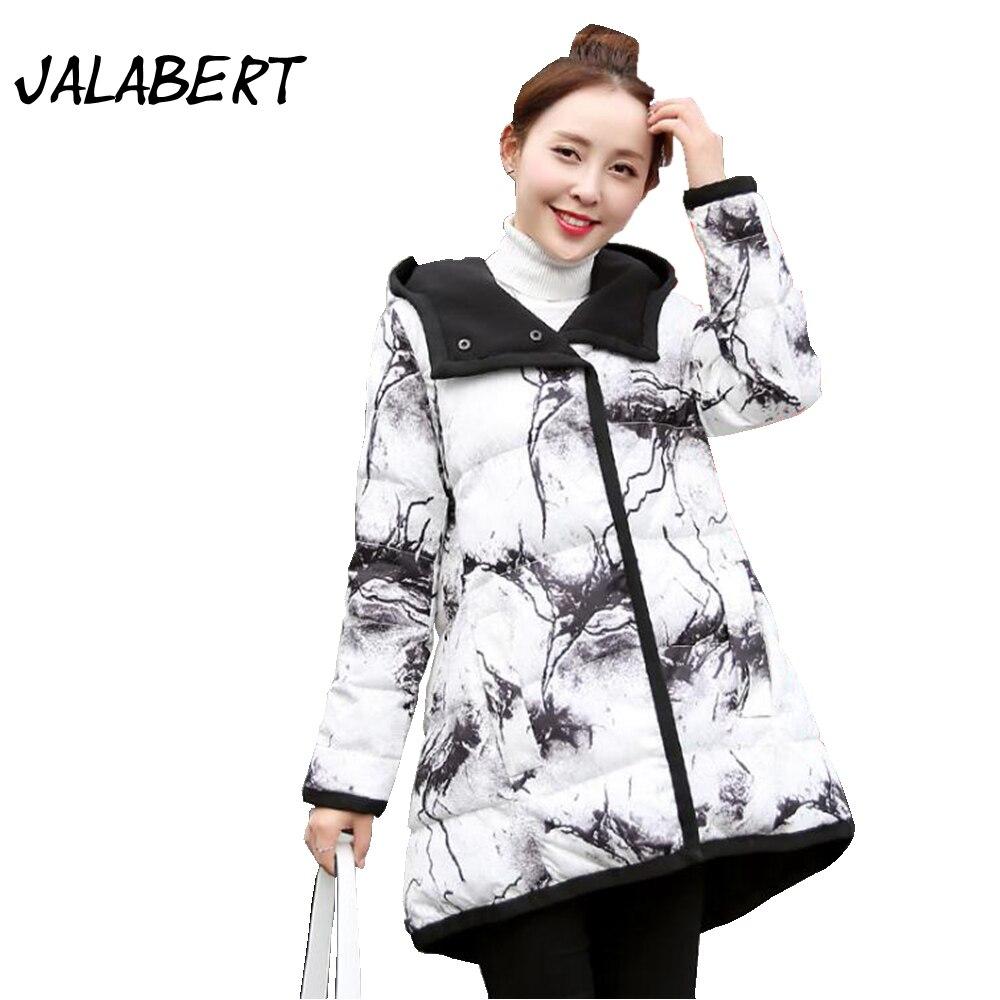 2017 Hot Sale Full Autumn Winter New Fashion Women Cotton On Both Sides Wearing Jacket Female Hooded Loose Printing Parkas Warm Îäåæäà è àêñåññóàðû<br><br>