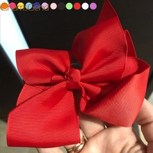Newly Design Fashion Big Bow Hairpins Hair Clips For Children Kids Girls Hair Accessories Drop Shipping(China)