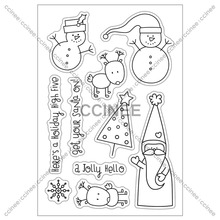 CCINEE 1PCS Christmas Cartoon Clear Transparent Stamp DIY Silicone Seals Scrapbooking/Card Making(China)