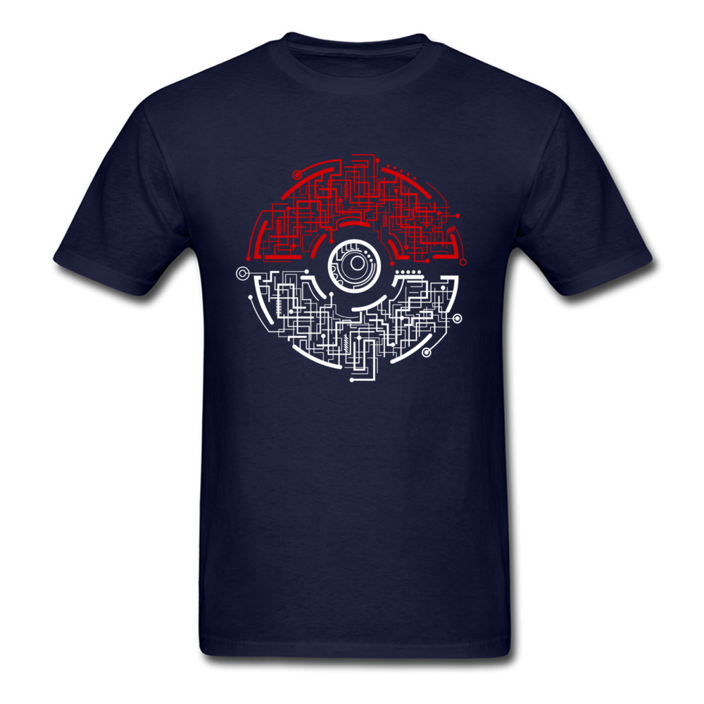 electric ball 8874 Men T-shirts Discount Unique Tees 100% Cotton Crewneck Short Sleeve Design Tee Shirt Summer Fall electric ball 8874 navy