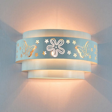 2017 New Arrival Wrought LED Wall Lamp Butterfly/Flower Pierced Wall Lamps Chinese Style Bedroom Indoor Led Wall Light(China)
