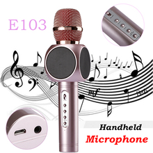 Magic Karaoke Microphone E103 Wireless Bluetooth Professional K Song Handheld Microphone Outdoor KTV Speaker For PC iOS Android