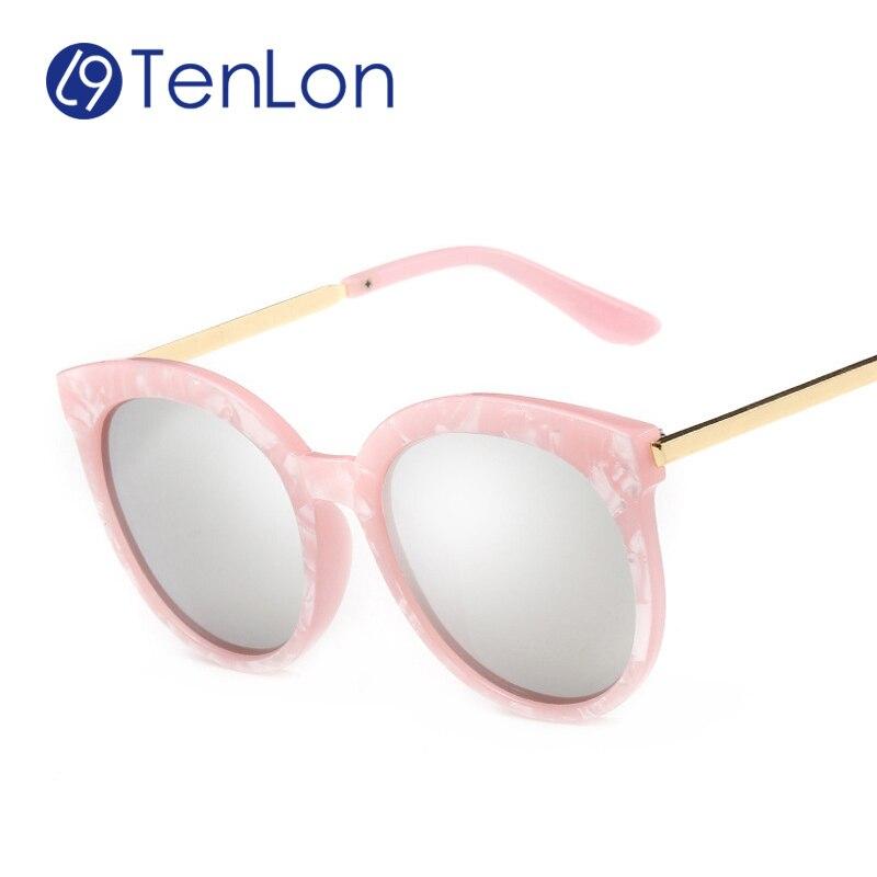 TenLon Glasses Polarizde UV400 Round Oval Classic Women Coating lens sunglasses cute oculos de sol eyeglasses wholesale eyewear<br><br>Aliexpress