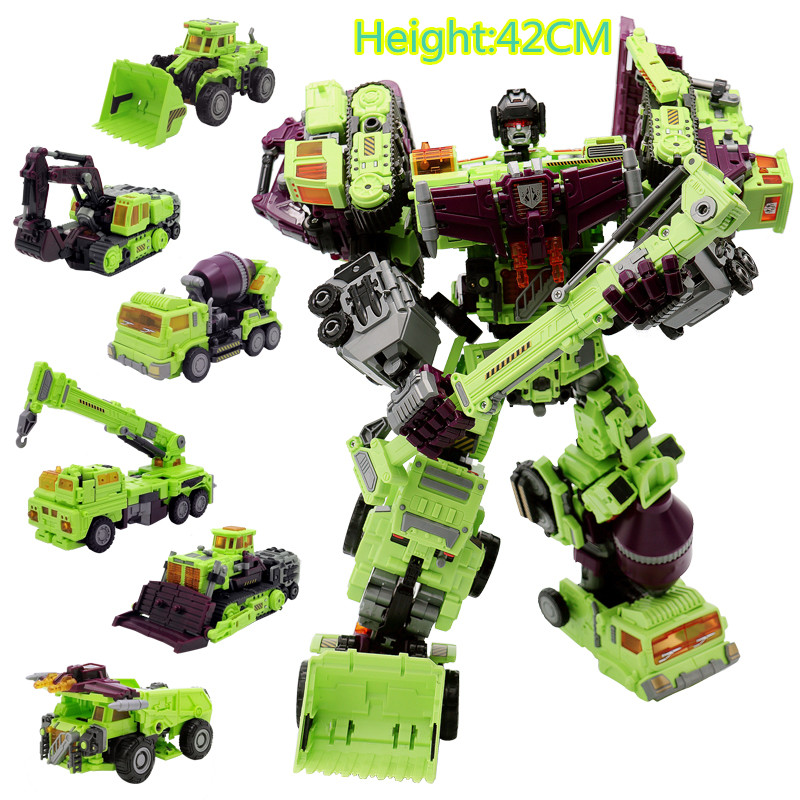 Jkela-NBK-1-6-Transformation-Robot-Ko-Devastator-LONG-HAUL-Scraper-Mixmaster-Figure-Toy-Action
