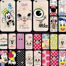For iPhone 6S Plus 5.5'' Wholesale Price Elegant Painting Goofy Silicon Phone Cases For Apple iPhone 6 Plus Case Cover Shell Hot