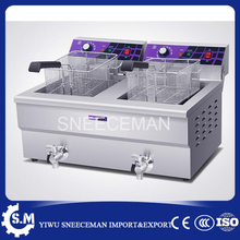 Double-cylinder commercial 38L large-capacity frying machine fries chicken steak deep fryer machine(China)