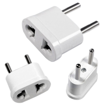1pc US To EU Plug Power Adapter White Travel Power Plug Adapter Converter Wall Charger(Hong Kong)