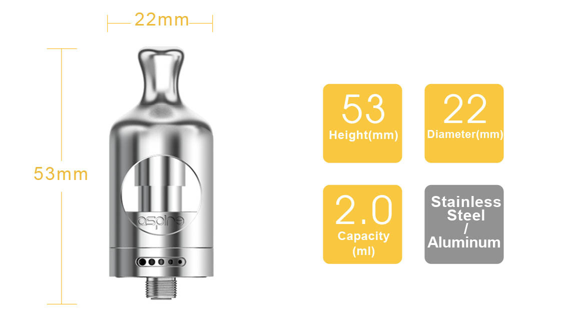 Electronic Cigarette Aspire Nautilus 2 Tank Mouth to Lung MTL Vape Vaporizer 2ML 510 Atomizer Compatible with Zelos Mod and NX30 4