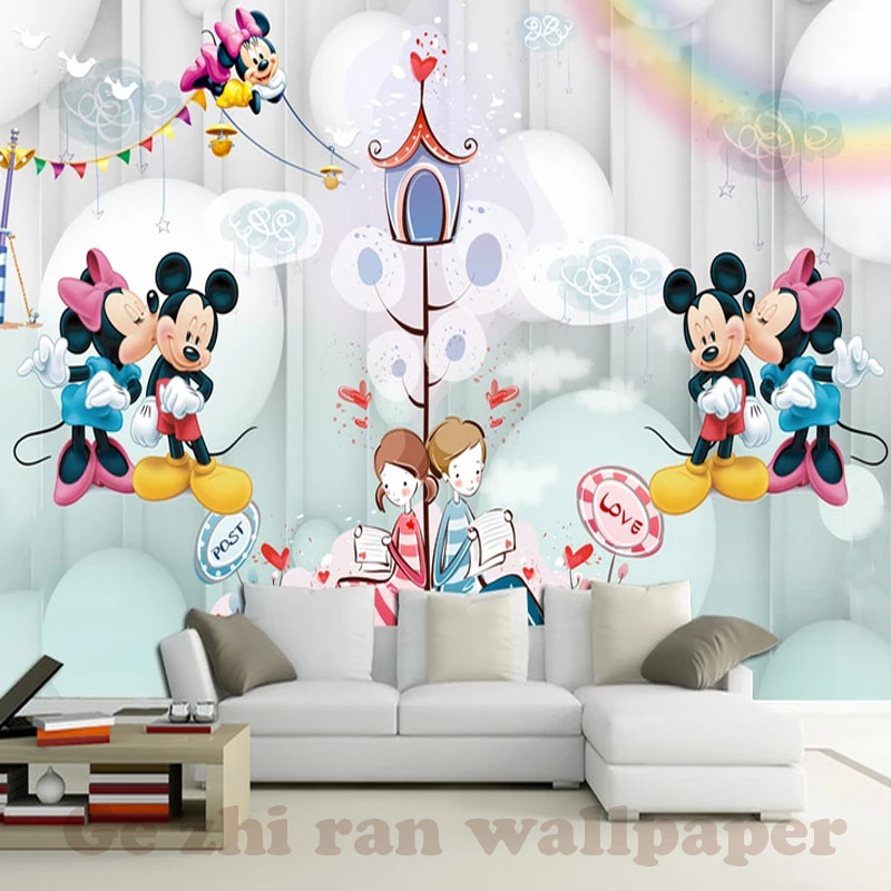 HTB18BBHmWmWBuNjy1Xaq6xCbXXaE - 3D Cartoon Mural Wallpaper For Children Room-Free Shipping