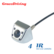 Car rear view camera adapt to types of cars bring 170 angle+4 IR + hd ccd Image sensor +Metal shell material night  vision