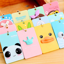 2017 Creative PVC  ID Card Pack Three-dimensional Cartoon Student Card Bus Card Package Hanging  Keychain Credit Card Holders