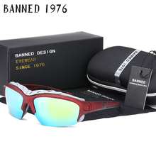 Original Box windproof Polarized Sports Men women Sunglasses fashion brand cool outdoor UV Protect Goggles Eyewear gafas de sol(China)