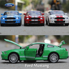 1:32 Die Cast Model Collectors Mustang GT500 Jugetes Para Ninos Children Car Toys