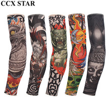 CCX STAR More Style Cool Fake Nylon Tattoo Sleeve Women Men Arm Warmers(China)