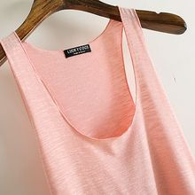 Women Loose Tops Sleeveless Casual Tanks U Neck Bamboo Cotton 12 Colors
