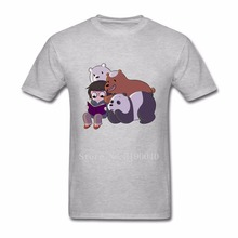 Designs R&B t-shirt Teenage Plus size We Bare Bears mens T Luxury Grizzly Panda and Ice Bear Clothing For Mens T Shirts(China)