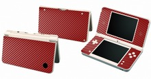 Red Carbon Fiber Vinyl Skin Sticker Protector for Nintendo DSI XL LL for NDSI XL LL skins Stickers