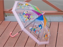 Yuding Children Umbrella Parasol Transparent Umbrella Full-automatic Long-handle Umbrella(China)
