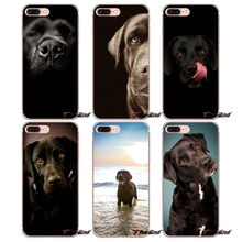 pretty Black Lab Labrador puppy Dog Soft Case For Samsung Galaxy S3 S4 S5 MINI S6 S7 edge S8 Plus Note 2 3 4 5 Grand Core Prime(China)