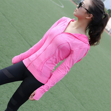 S-XL Plus Size Quick-Dry Women Sports Shirts Gym Female Fitness Zipper Hoodies Functional Workout Running Ladies Yoga Clothing