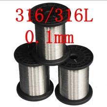 0.1mm,316/316L Soft Stainless Steel  Wire,36 gauge/0.1mm SS Seaworthy Thread