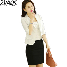 2017 new Europe fashion causal women blazers and jackets plus size M-6 XL turn down collar blazer women office suit jacket M0467(China)