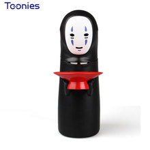 Spirited Away Money Box Faceless Man Piggy Bank Unique Kid's Toys Electronic Safe Box Dolls Power Sound Eat Coins Saving Money(China)