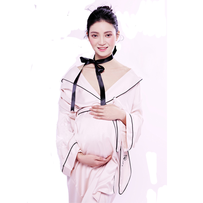 Royal Maternity pregnant women Photography Props Elegant Photo Shoot Dress Costume Personal photos pregnant robe Nightgown<br>