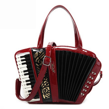 2017 Women's vintage accordion bag Musician's handbag party concert use novelty Trong music purse Preppy Style Crossbody Bags Me(China)