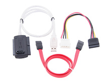 "3 in 1 usb to sata cable USB 2.0 to IDE 40p SATA 22p 2.5"" 3.5"" IDE HD Hard disk drive Adapter Converter Cable"