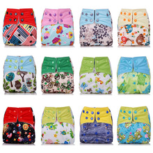 Cute cartoon Training Pants Briefs washable Underwear Infant baby boys girls Cotton Waterproof Reusable Nappy Diaper