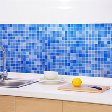 1 x Kitchen High temperature resistant prevent oil stickers, bathroom waterproof adhesive wall sticker Mosaic ceramic wallpaper(China)