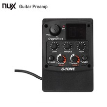 Cherub GT-6 G-Tone Acoustic Guitar Preamp Piezo Pickup LCD Tuner with Reverb/Delay/Chorus/Wide Effects Guitar Accessories