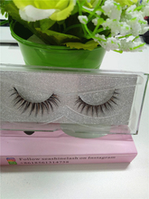 synthetic silk false eyelash OEM service private label 3D natural hand made false eyelash made in China(China)